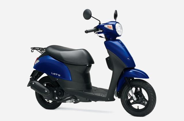 画像11: スズキの50ccスクーター「レッツ」に新色が登場! 既存の3色と合わせて全4色で2020年12月8日に発売【2021速報】
