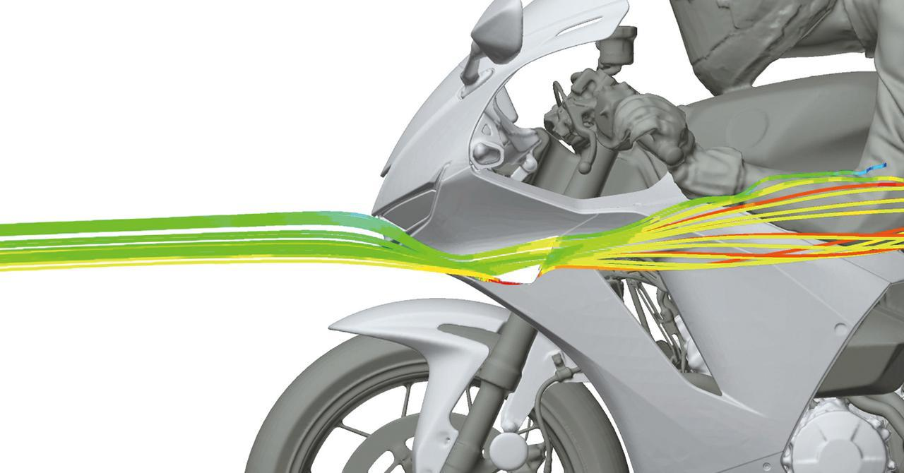 画像: 新型600RRのウイングレットはリフト量を6.5%減らす効果があり、本来の軽快なハンドリングを損なうことなく安定性を高めてくれる。