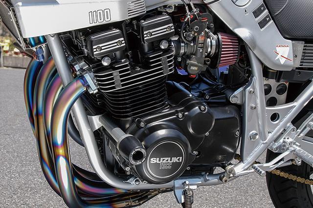 画像: エンジンはオーバーホールと外観再塗装がなされ、フレーム見直しとの相乗効果で見た目にも乗ってもバイクが元気よく、全体にしゃきっとした印象という。