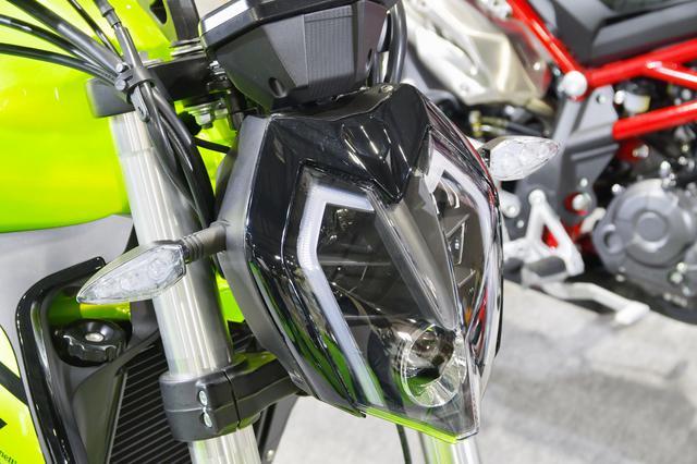 画像: 先鋭的なスタイルのヘッドライトはLEDを採用。またテールランプもLEDになる。