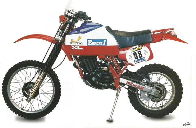 画像: XR500(1982) www.parisdakar.it