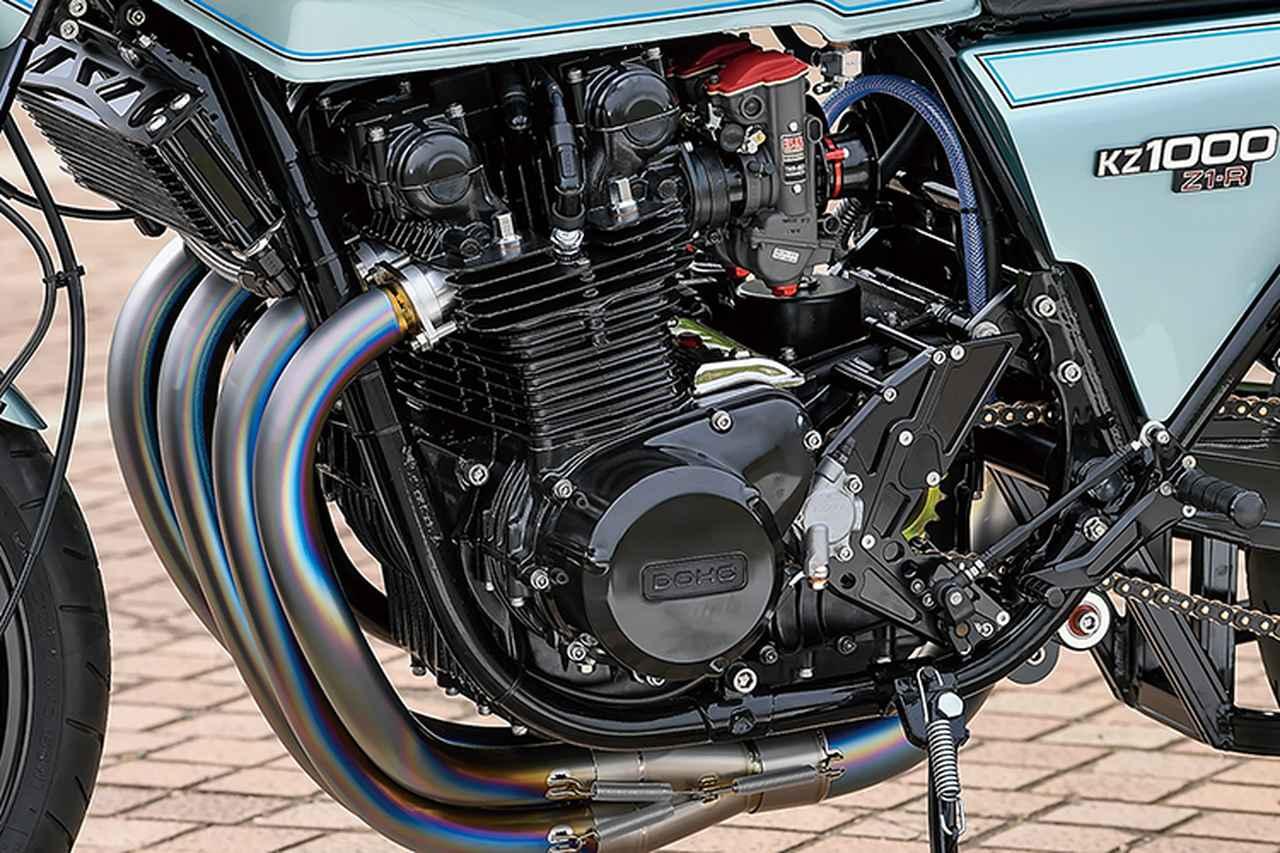 画像: エンジンはヴォスナー鍛造ピストンでφ71×66mmの[1015→]1045ccにスープアップ。クランクはフルリビルド、ミッションはドッグクリアランスを精密シム調整し、クランクケースもポンピングロス低減加工。ヘッド側はオーバーサイズバルブガイド入れ替えやバルブシートカット加工、ヘッド下面最小限面研を行い、PAMS HFバルブを組む。カムはノーマル。適度なパワーを持ちながらライフにも配慮した仕様なのだ。