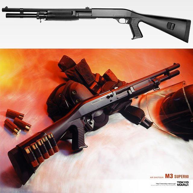 画像: エアガン ショットガン 東京マルイ M3 スーパー90 スワット SWAT 警察 映画 スピード ホップアップ搭載 SHOTGUN 銃 (18arm) ファースト ヤフー店 - 通販 - PayPayモール