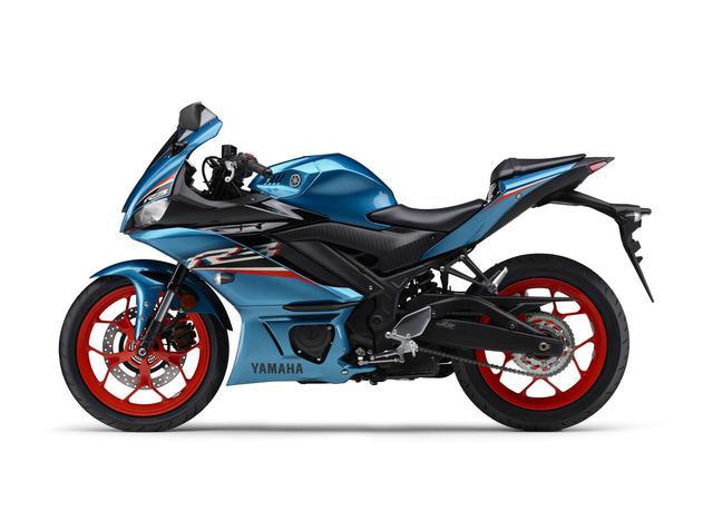 画像2: ヤマハが「YZF-R25」「YZF-R3」の2021年モデルを発売! トレンド色のシアンを初採用