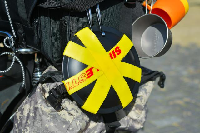 画像: 派手さ重視で黄色にして正解だった。目立つぜ。