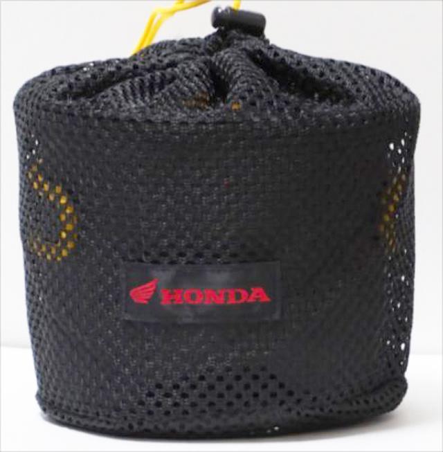 画像: こちらは収納袋にホンダのロゴがあしらわれています。