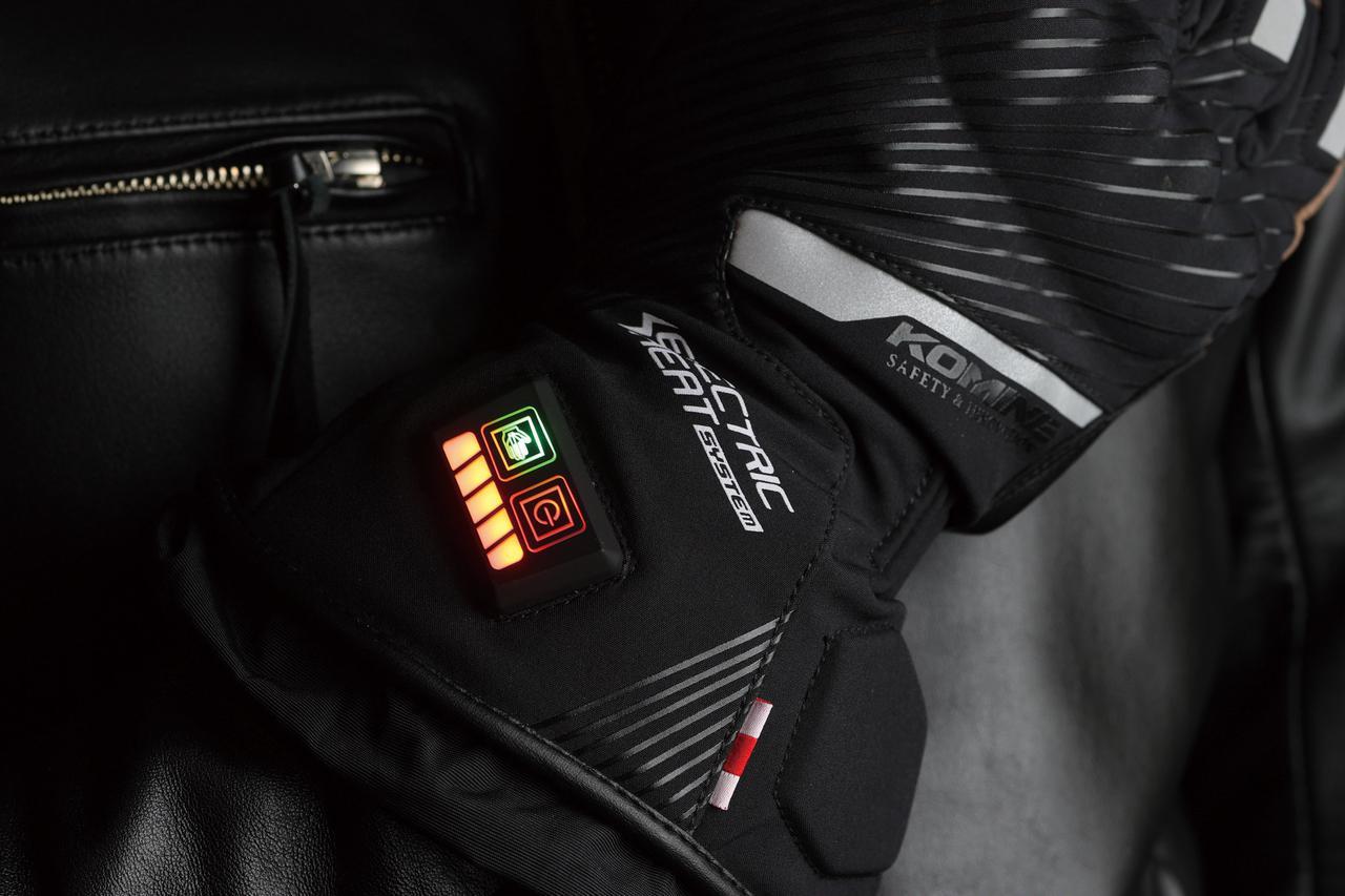 画像: 下のラインがバッテリー残量、右上が電源とパワーレベル、左側が発熱エリアの切り替えを表すボタン。