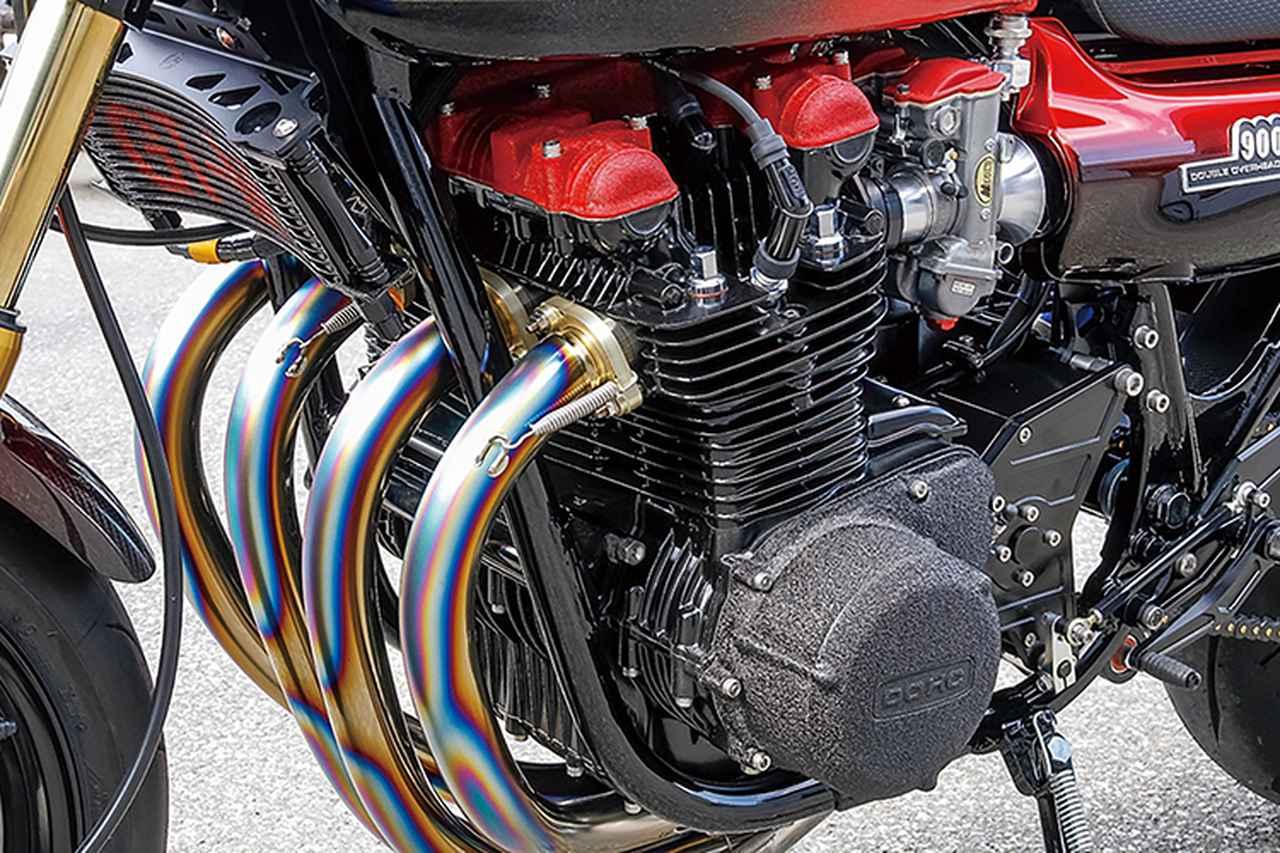 画像: エンジンは本文のようにピスタルレーシング製φ73mm鍛造ピストンで1135cc化、ヨシムラカムやマッコイ5速クロスミッション等を組む。ボーリングをはじめ内燃機加工もGT-Mの文法通りにすべて自社作業。多彩な仕様が好みで選べるのも、この自社作業に依る部分も大きい。