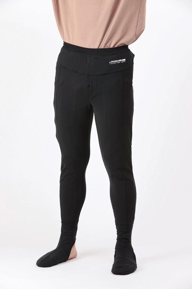 画像: 太ももから膝までの上面と、つま先にヒーターを内蔵。ソックス別体型のようにパンツと接続する必要がなく、下半身全体を暖める。