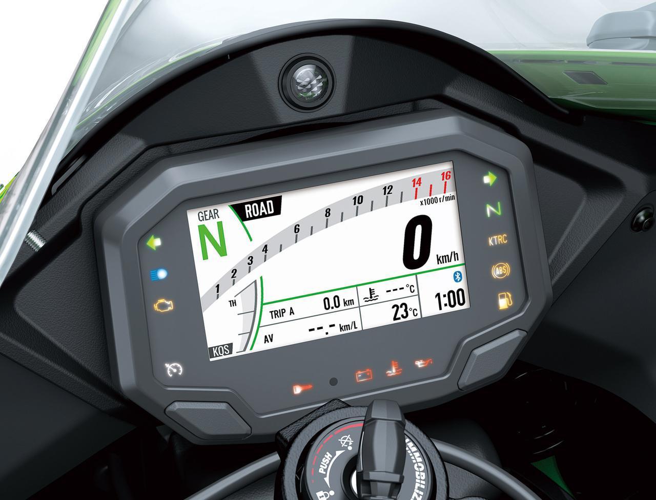 画像: カラーTFTメーターを導入。4.3インチで2種類の表示方法が選べるほか、Bluetooth接続によるスマホコネクト機能も備える。