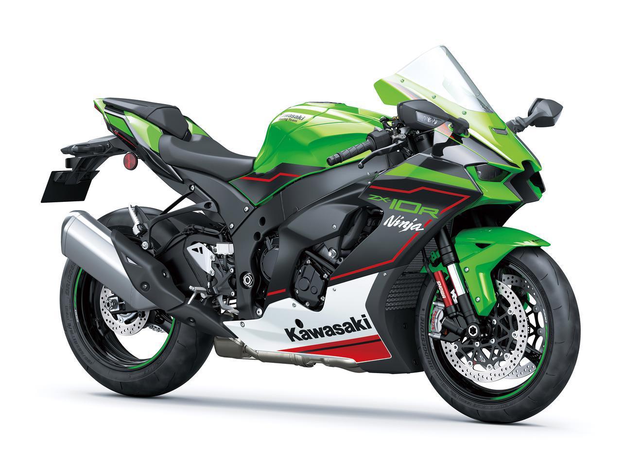 画像: Kawasaki Ninja ZX-10R 総排気量:998cc エンジン形式:水冷4ストDOHC4バルブ並列4気筒 シート高:835mm 車両重量:207kg