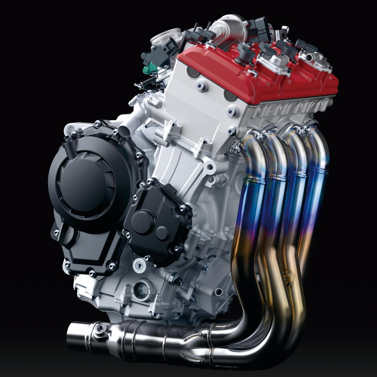 画像: 写真は2019年型。新型のユニットはヘッドは黒となる。Rは203PS、RRは204PSを発揮、RRは発生回転数が1万4000回転に引き上げられた。