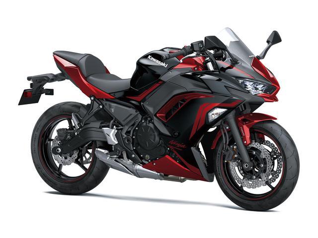 画像: Kawasaki Ninja 650 カラー名称:メタリックスパークブラック×メタリックインペリアルレッド