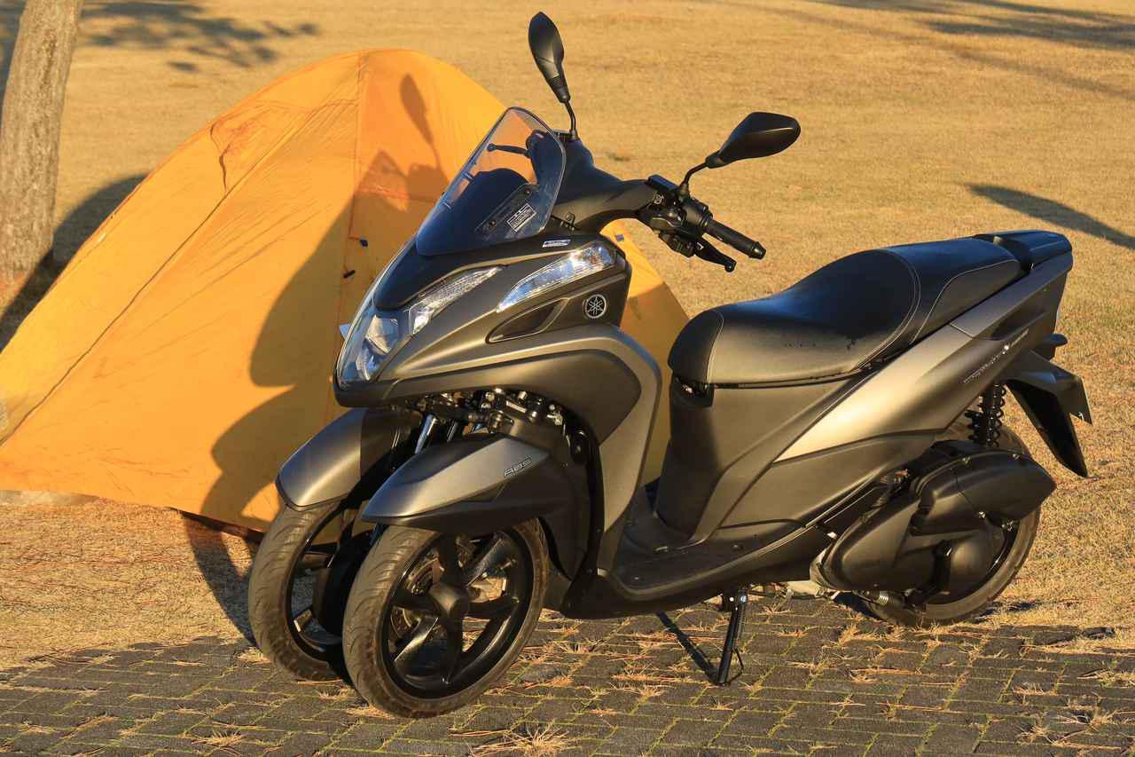 画像: YAMAHA TRICITY 155 総排気量:155cc エンジン形式:水冷4ストSOHC4バルブ単気筒 シート高:765mm 車両重量:165kg 税込価格:48万4000円