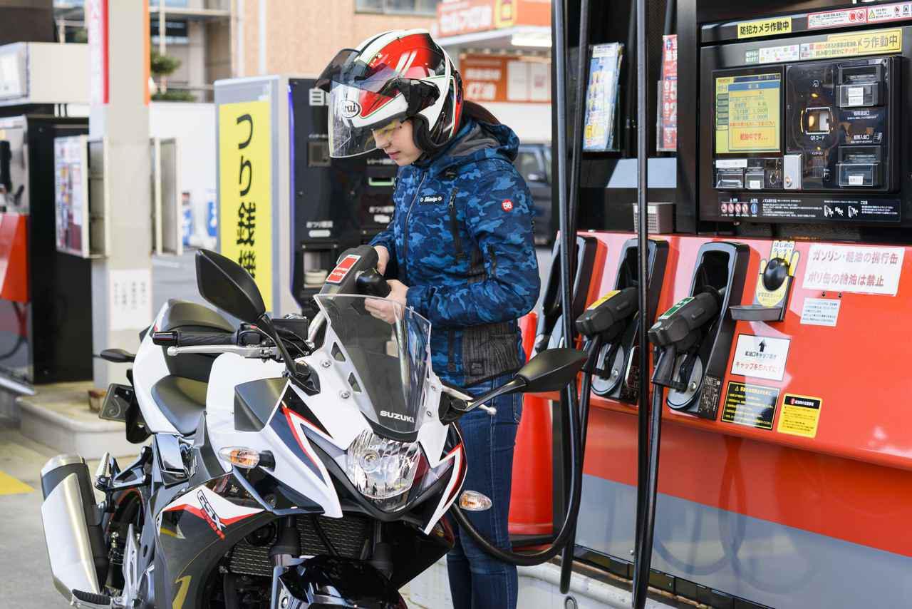 画像2: 空いている状況なら給油機の右側に停めた方が吉