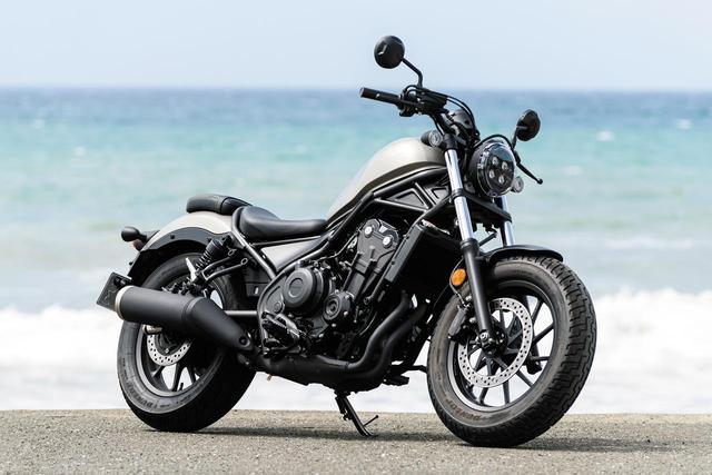 画像: Honda Rebel 500 総排気量:471cc エンジン形式:水冷4ストDOHC4バルブ並列2気筒 シート高:690mm 車両重量:190kg メーカー希望小売価格:税込79万9700円