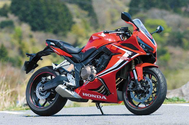 画像: Honda CBR650R 総排気量:648cc エンジン形式:水冷4ストDOHC4バルブ4気筒 シート高:810mm 車両重量:206kg メーカー希望小売価格:税込105万6000円~108万9000円 写真のカラーはグランプリレッド(108万9000円)