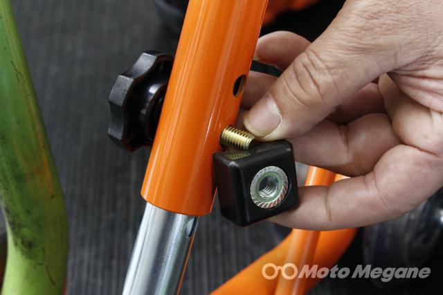 画像: 高さ変更用のボルト部はナットが共回りしないように樹脂の部品が追加されている。その他、改良部も多い。