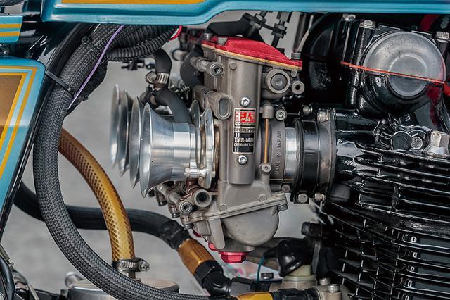 画像: キャブはTMR-MJNφ38mmのデュアルスタックファンネル仕様をチョイス。