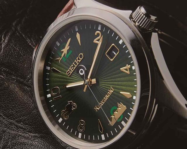 画像: カワサキがセイコーと初コラボ! 文字板にバイク・船・飛行機をあしらった腕時計「カワサキ×SEIKO LSAウオッチ」を発売 - webオートバイ