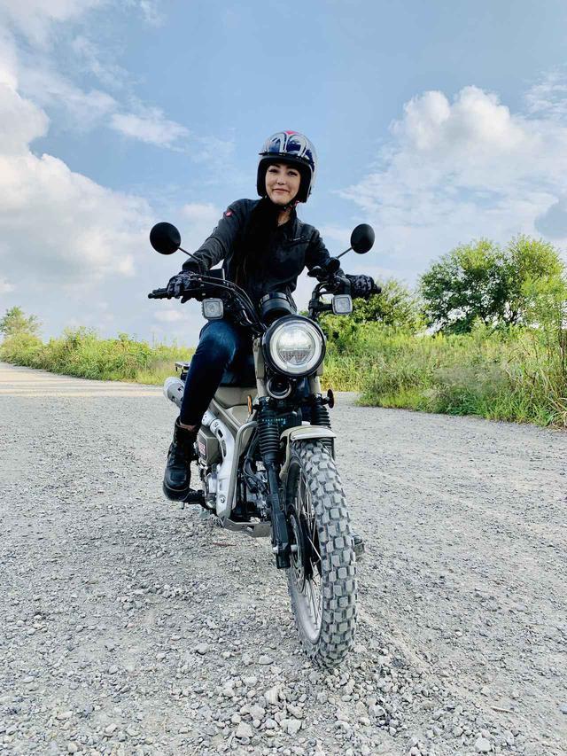 画像: 愛車ハンターカブさんのタイヤを変えたの。(福山理子) - webオートバイ