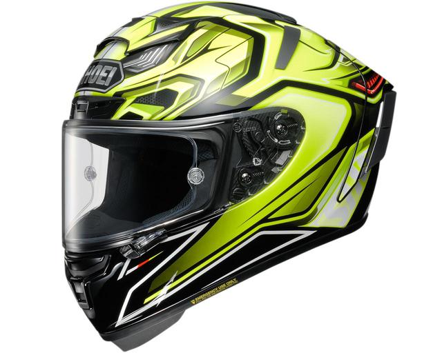 画像1: 【受注限定販売モデル】SHOEIがフルフェイスヘルメット「X-Fourteen AERODYNE」のイエロー/ブラックを発表!