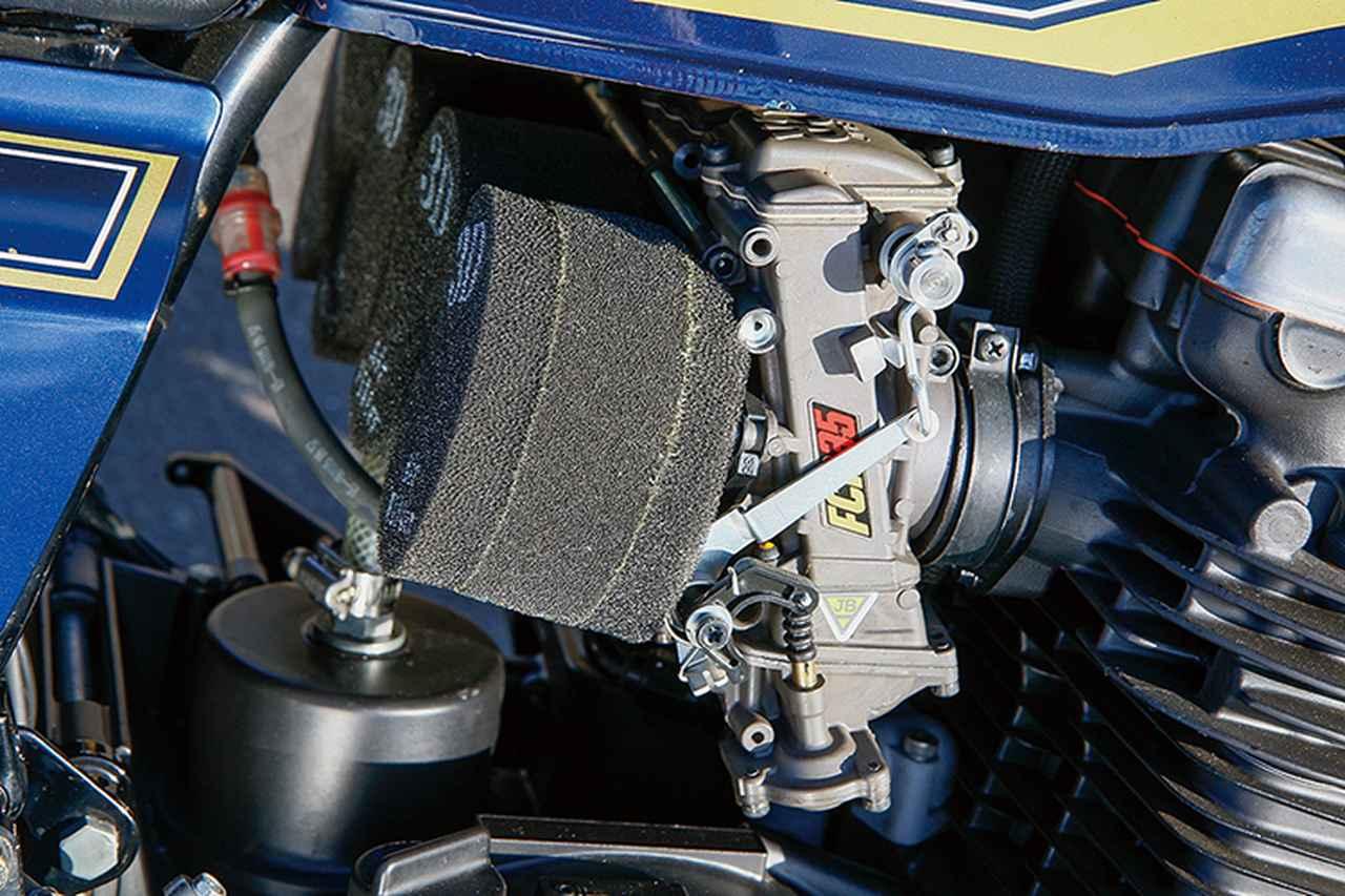 画像: キャブレターももう1台のZ2と同じFCRを選んだ上で、こちらはφ35mmボアを選択。同じ排気量でのボア違いによる特性を楽しんでいるという。