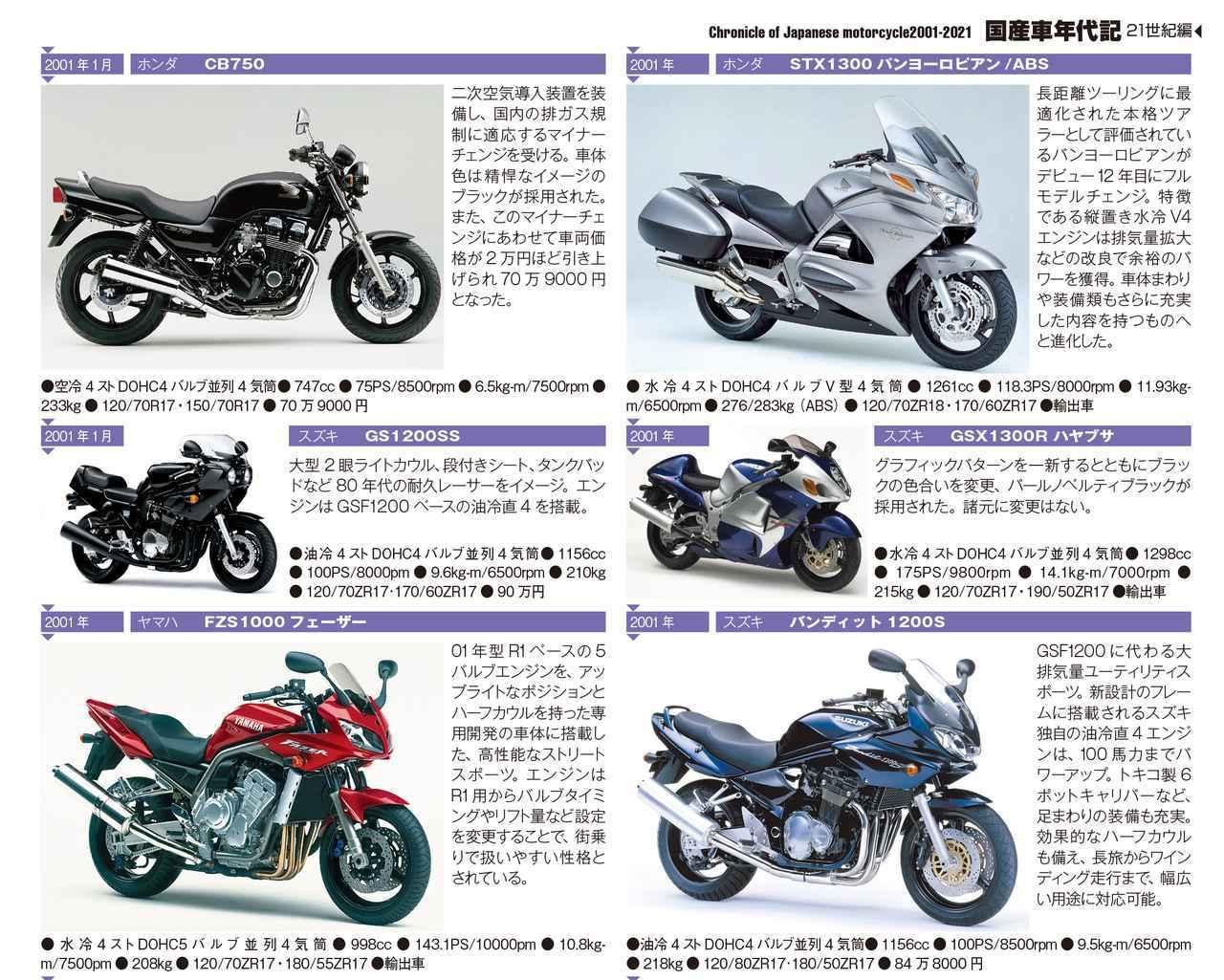 画像: 「国産車年代記 21世紀編」では、このような感じで2001年から2021年発売のバイクを徹底網羅!