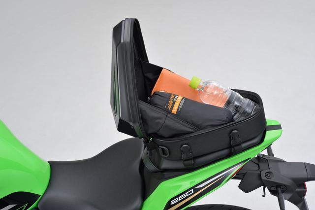 画像6: フルカウルスポーツバイクに似合うシートバッグ! 日帰りツーリングに役立つヘンリービギンズの新型「シェルシートバッグ」