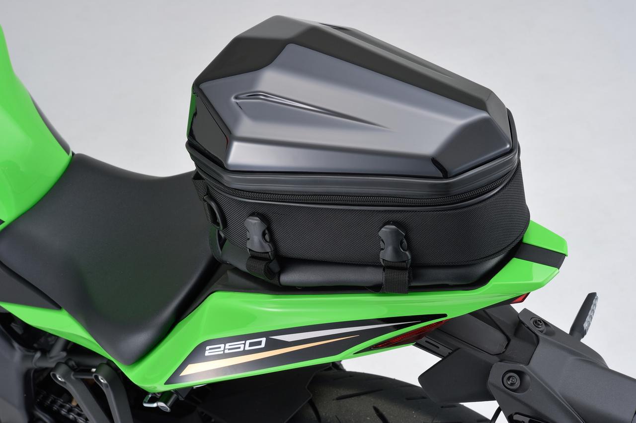 画像4: フルカウルスポーツバイクに似合うシートバッグ! 日帰りツーリングに役立つヘンリービギンズの新型「シェルシートバッグ」