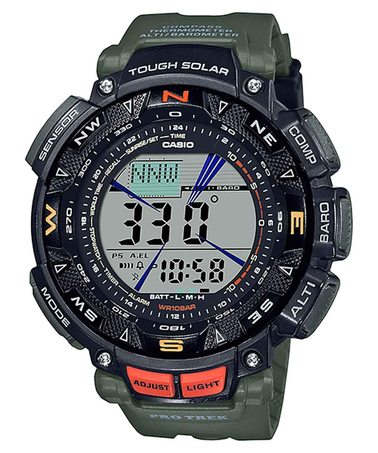 画像5: アウトドア好きの物欲をくすぐるデザインと機能! カシオのプロトレックから腕時計の新製品が登場
