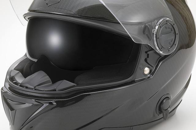 画像2: 話題のカーボンフルフェイスが進化! インナーバイザー付きのジーロット「ブルレイダー2」