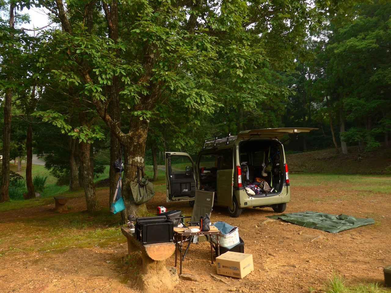 画像: N-VANでキャンプを楽しむ(イメージ) 写真〈若林浩志のスーパー・カブカブ・ダイアリーズ〉 www.autoby.jp