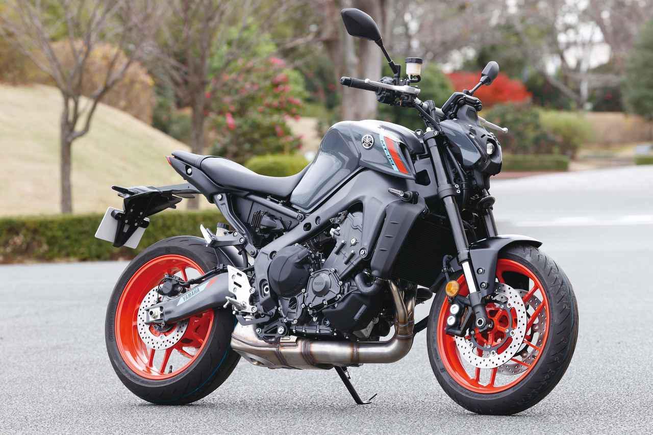 画像: YAMAHA MT-09 ABS 総排気量:890cc エンジン形式:水冷4ストDOHC4バルブ並列3気筒 シート高:825mm 車両重量:189kg