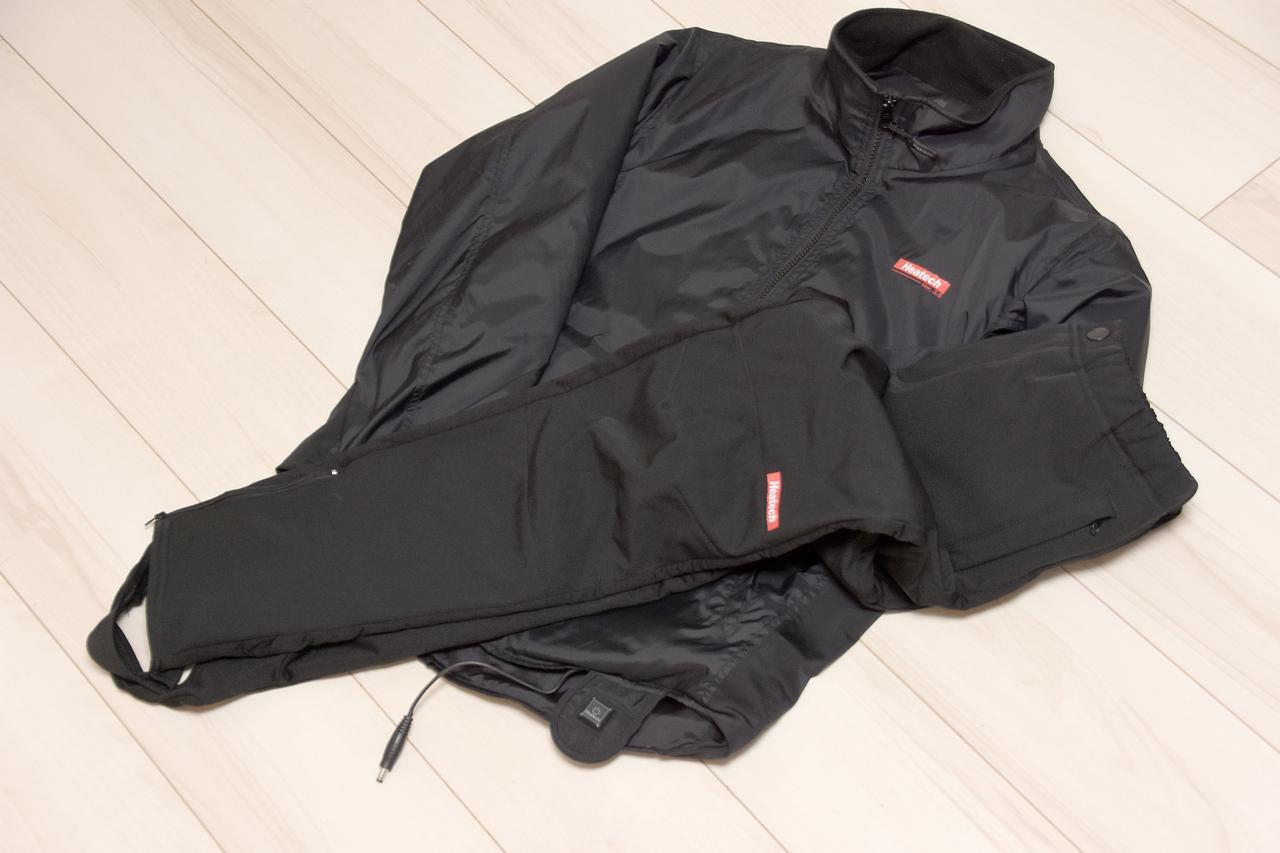 画像: ナカムラ私物のヒーテックジャケット&パンツ もう5年物? 立派に稼働してます、冬は欠かせません