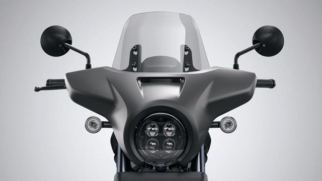画像: スクリーンカウル 税込24200円 通称「ヤッコカウル」をオプション設定。スポーティなレブルが快適ツアラーに変身。