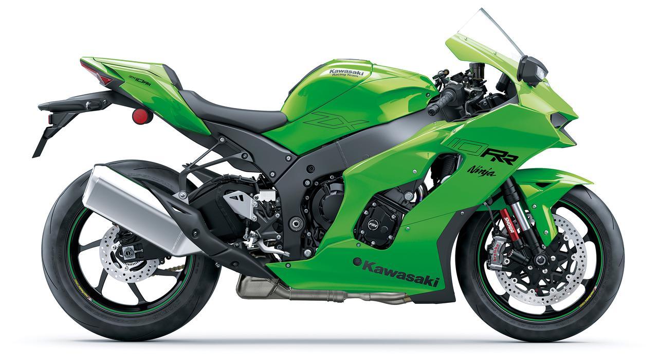 画像: Kawasaki Ninja ZX-10RR RRは世界500台限定モデル。チタンコンロッドや軽量ピストンを採用した高回転仕様のエンジンやアルミ鍛造ホイールなどを装備する。