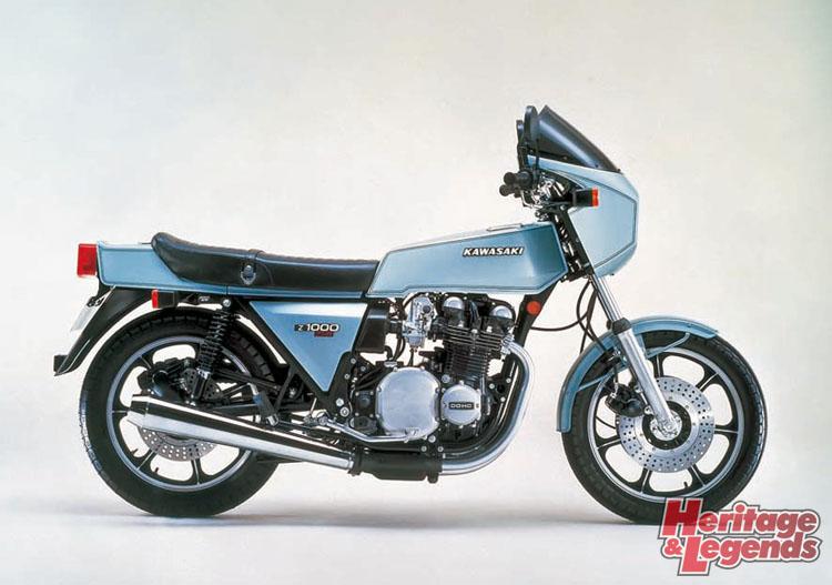 """画像: ▲1977年Z1-R 1960年代イギリスで流行した""""カフェレーサー""""というカスタムスタイルに1970年代後半の世界的な角型デザインの波をミックスして作られたZ1系の派生モデルがZ1-R。"""