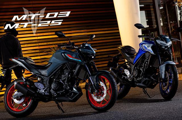 画像2: ヤマハが「MT-25」「MT-03」の2021年モデルを発表! カラーは3色、2020年モデルと比較してみよう