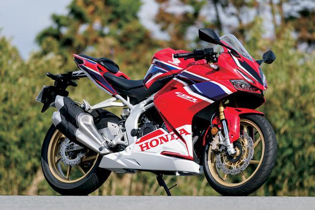 画像: Honda CBR250RR 総排気量:249cc エンジン形式:水冷4ストDOHC4バルブ並列2気筒 最高出力:41PS/13000rpm 最大トルク:2.5kg-m/11000rpm シート高:790mm 車両重量:168kg 価格:85万4700円(グランプリレッド[ストライプ])