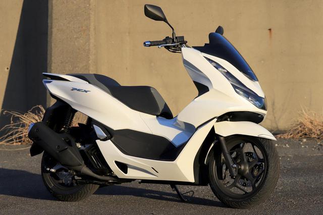 画像: Honda PCX 総排気量:124cc エンジン形式:水冷4ストSOHC4バルブ単気筒 シート高:764mm 車両重量:132kg 発売日:2021年1月28日 メーカー希望小売価格:税込35万7500円