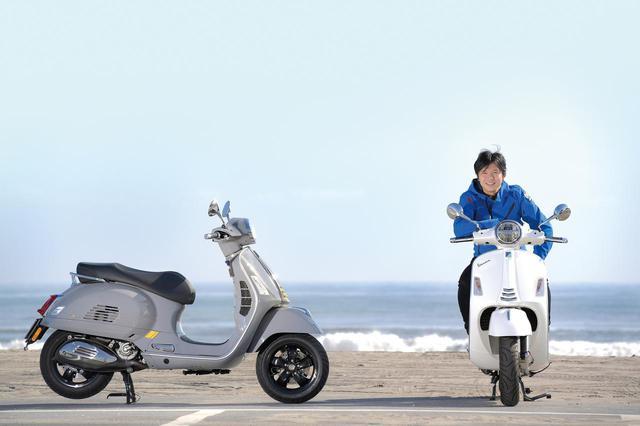 画像: 中野さんが跨っている車両が「GTSスーパー150」。左は「GTS スーパーテック300」。