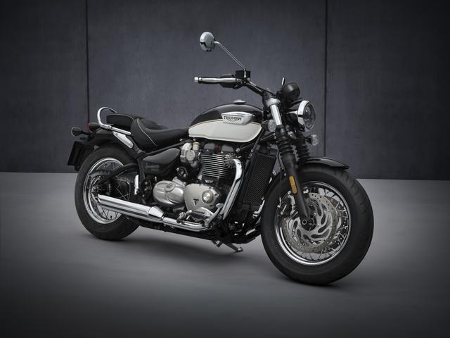 画像: TRIUMPH Bonneville Speedmaster 総排気量:1200cc エンジン形式:水冷4ストSOHC4バルブ並列2気筒270°クランク シート高:705mm 車両重量:264kg 日本での発売予定時期:2021年4月 メーカー希望小売価格:税込179万円~182万9600円