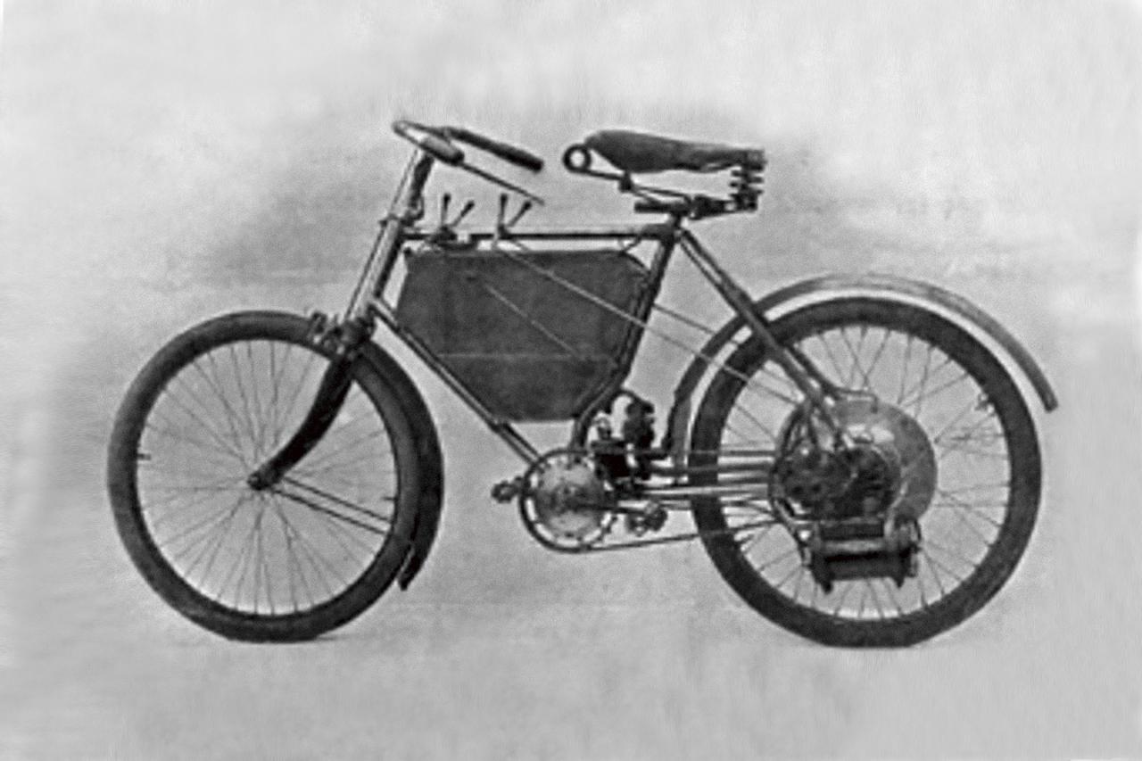 画像: プジョー モーターサイクル1号車(1898)