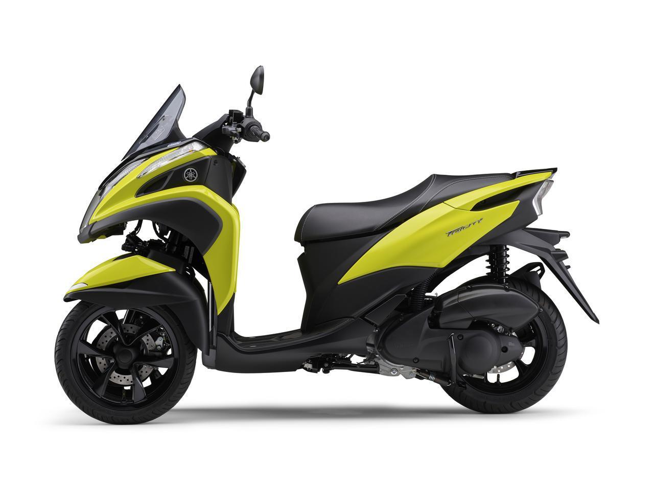 画像2: ヤマハが原付二種「トリシティ125」の2021年モデルを発売! 鮮明な新色〈イエロー〉が登場