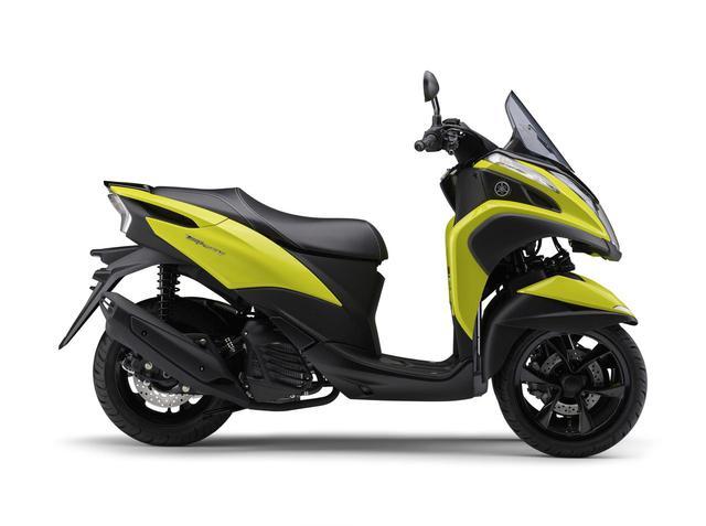 画像1: ヤマハが原付二種「トリシティ125」の2021年モデルを発売! 鮮明な新色〈イエロー〉が登場