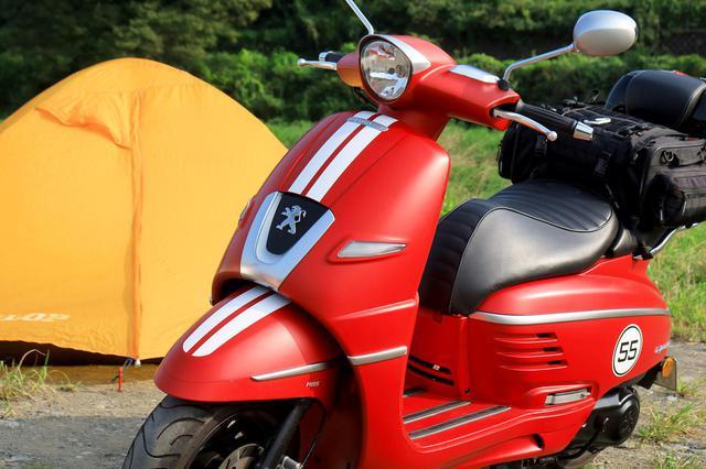 画像: プジョーのジャンゴでキャンプをしたよ。キャンプツーリング・インプレ - webオートバイ