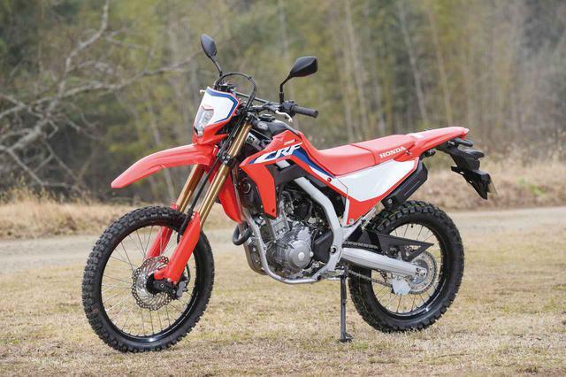 画像: Honda CRF250L 総排気量:249cc エンジン形式:水冷4ストDOHC4バルブ単気筒 シート高:830mm/〈s〉は880mm 車両重量:140kg 発売日:2020年12月17日 メーカー希望小売価格:59万9500円(消費税10%込)