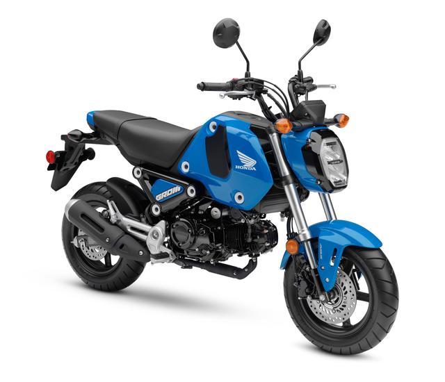 画像: Honda GROM ABS (アメリカ仕様・2021年モデル) 総排気量:123.9cc エンジン形式:空冷4ストSOHC2バルブ単気筒 シート高:762mm 車両重量:101kg
