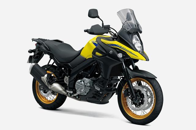 画像: SUZUKI V-Strom650XT ABS (2021年モデル) 総排気量:645cc エンジン形式:水冷4ストDOHC4バルブ90°V型2気筒 シート高:835mm 車両重量:215kg 発売日:2021年3月12日(金) メーカー希望小売価格:税込96万8000円